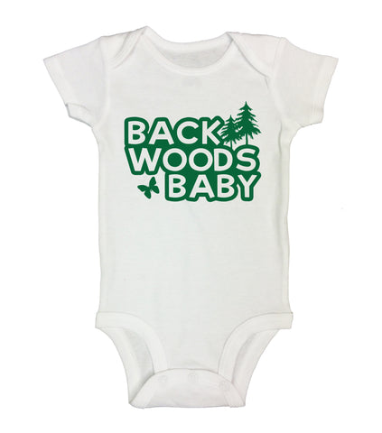 "Cute Baby Bodysuit ""Back Woods Baby"" RB Clothing Co."