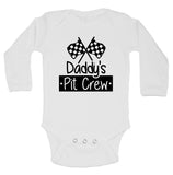 "Cute Racing Inspired Baby Bodysuit ""Daddy's Pit Crew"" RB Clothing Co"