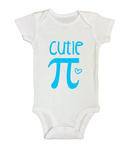 "Cute Math Pun Baby Bodysuit ""Cutie Pie"" RB Clothing Co"