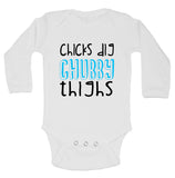 "Cute Baby Bodysuit ""Chicks Dig Chubby Thighs"" RB Clothing Co"