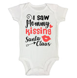 "Cute Holiday Baby Bodysuit ""I Saw Mommy Kissing Santa Clause"" RB Clothing Co"