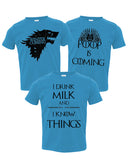 RB Clothing Co Kids Cute 3 Piece Game of Thrones Baby Bodysuit Set or T-Shirt's  USA MADE Shipped