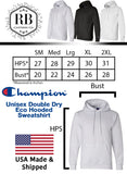 "Unisex Champion Eco Double Dry Hoodie Sweatshirt ""Cutie With A Booty"" RB Clothing Co"