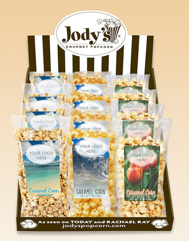 Best Seller Name Drop Counter Display - Jodys Wholesale Popcorn - 1