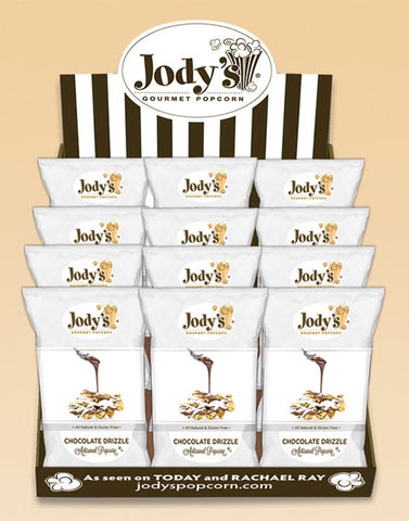 Chocolate Drizzle Silver Collection Counter Display - Jodys Wholesale Popcorn