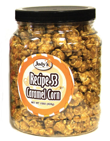 Recipe 53 Caramel 15 oz Jar  | 6 Jars/Case - Jodys Wholesale Popcorn - 1