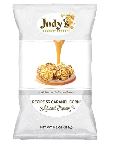 Recipe 53 Caramel 6.5 oz. Silver Foil Bag | 12 Bags/Case - Jodys Wholesale Popcorn
