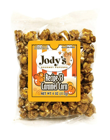 Recipe 53 Caramel 4 oz Small Bag  | 24 Bags/Case - Jodys Wholesale Popcorn