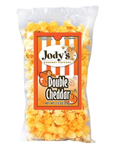 Double Cheddar Popcorn 2.5 oz | 12 Bags/Case - Jodys Wholesale Popcorn - 1