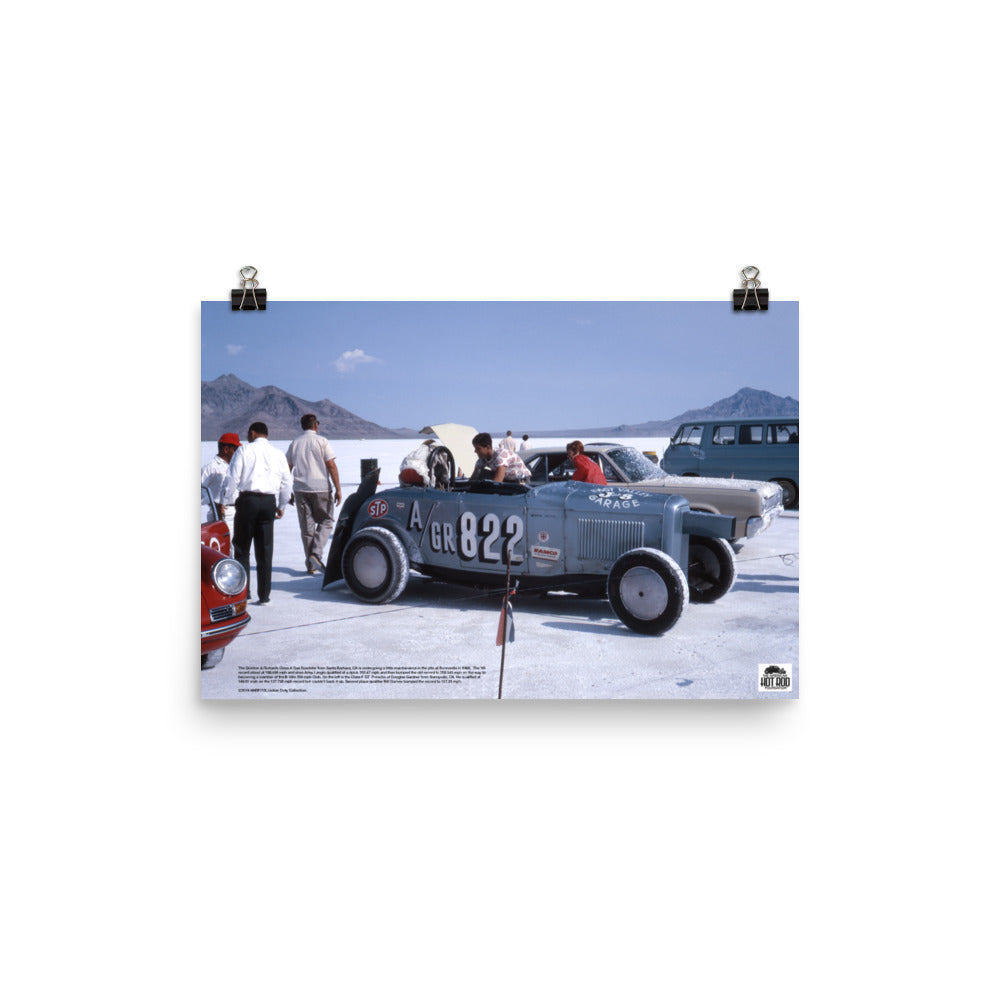 Historic Print #15: Quinton & Richards Roadster at Bonneville (1966)