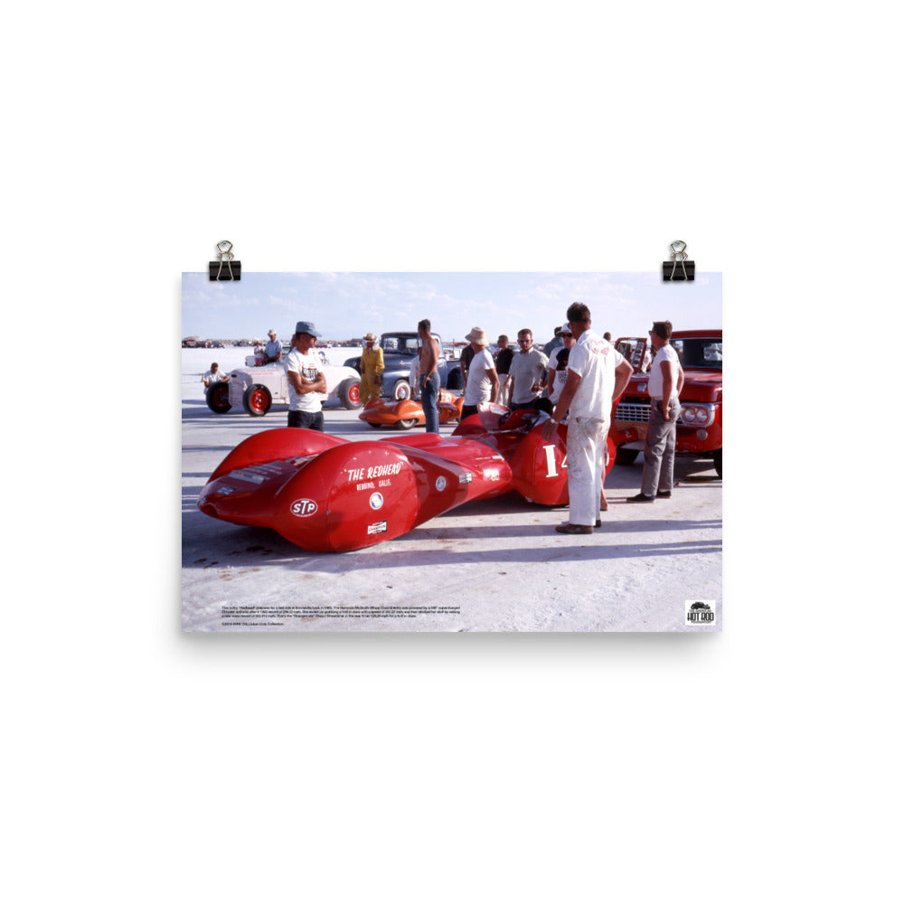 "Historic Print #30: Hammon-McGrath-Whip ""Redhead"" at Bonneville (1963)"