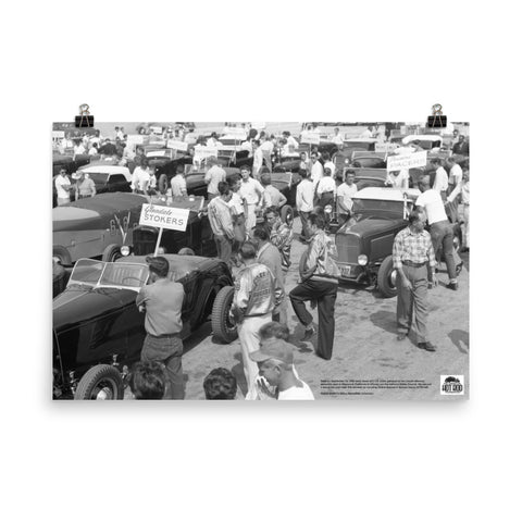Historic Print #01: SCTA Gathering at Lincoln Mercury Plant (1948)