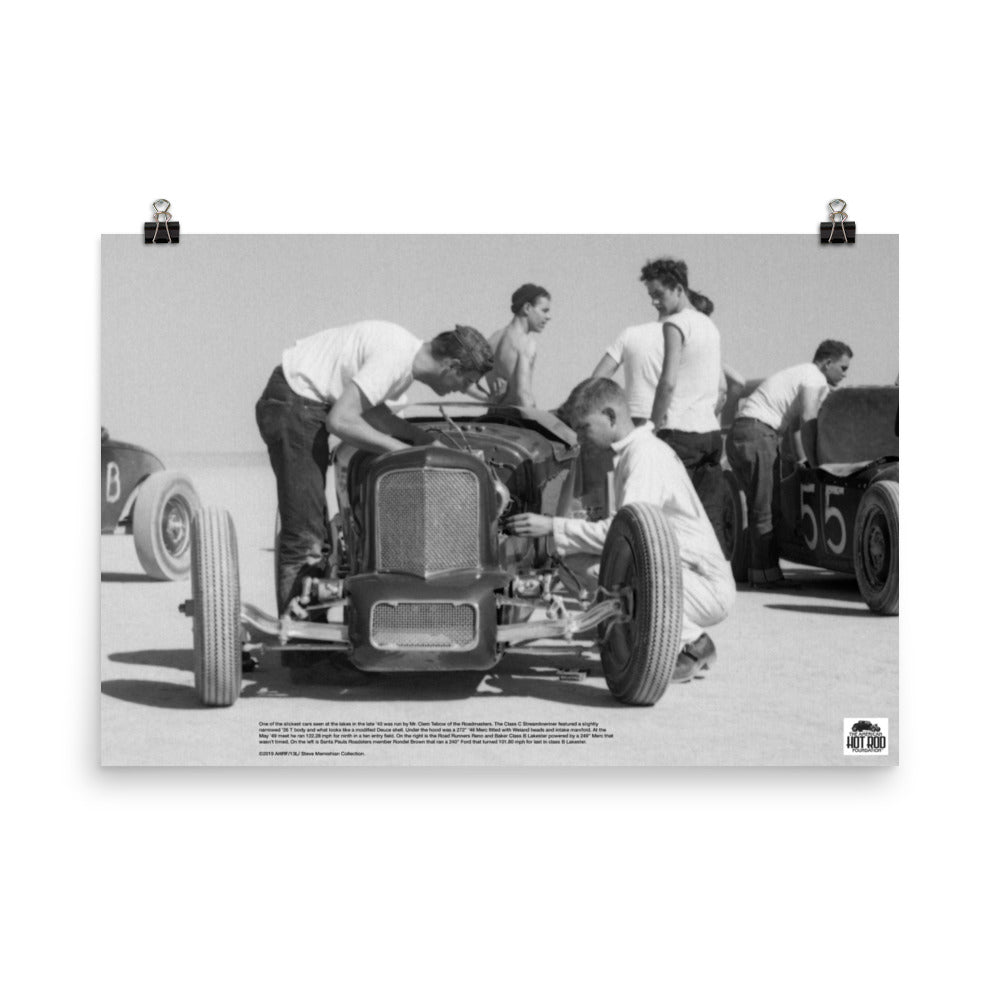 Historic Print #13: Clem Tebow's Streamliner at the Lakes (1940)