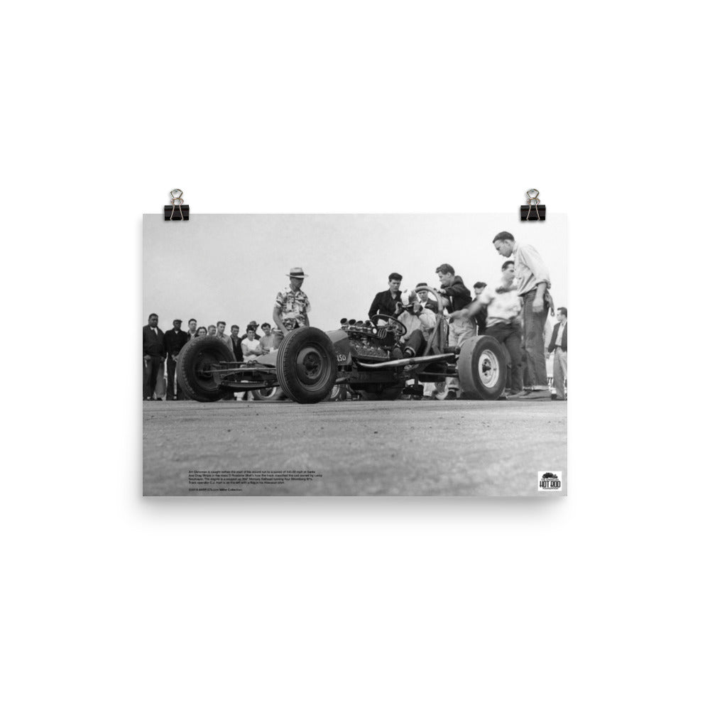 Historic Print #27: Art Chrisman at Santa Ana Drag Strip