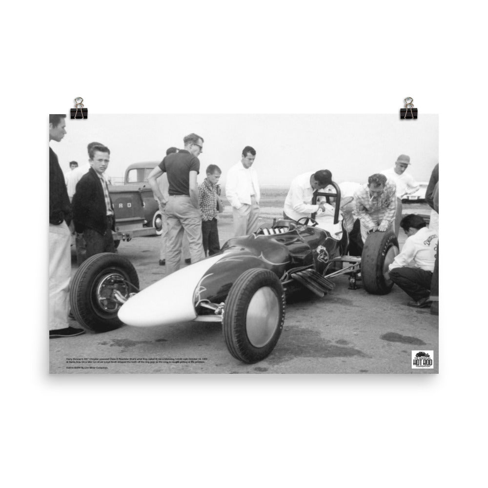 Historic Print #09: Harry Duncan's Dragster at Santa Ana (1955)