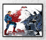 Marvel vs DC Superhero Gift Set Digital Watercolour Posters