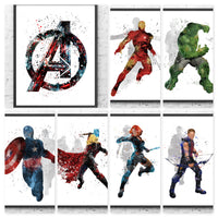 Marvel Avengers Gift Set Digital Watercolour Posters