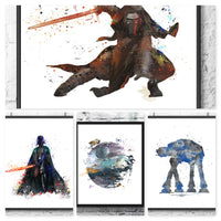 Star Wars Villains Sith Gift Set Digital Watercolour Posters