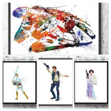 Star Wars Heroes Jedi Gift Set Digital Watercolour Posters