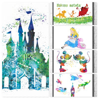 Disney Classic Gift Set Digital Watercolour Posters
