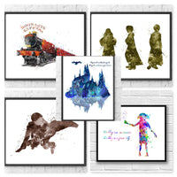 Harry Potter Gift Set Digital Watercolour Posters