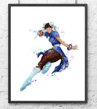 Street Fighter Chun-Li Digital Watercolour Poster