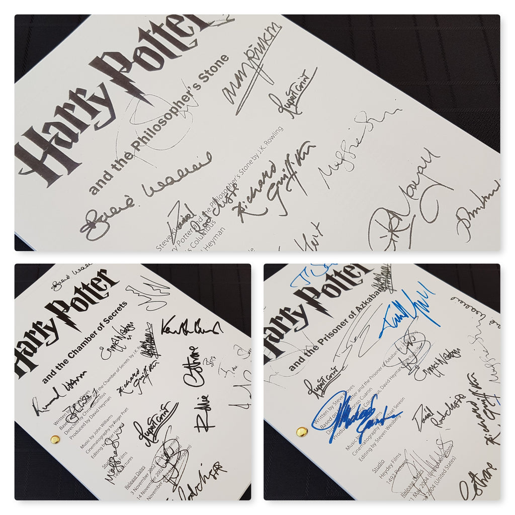 Harry Potter Gift Set Film Movie Signed Scripts Reprints