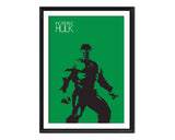 Marvel Superhero Hulk Digital Watercolour Poster