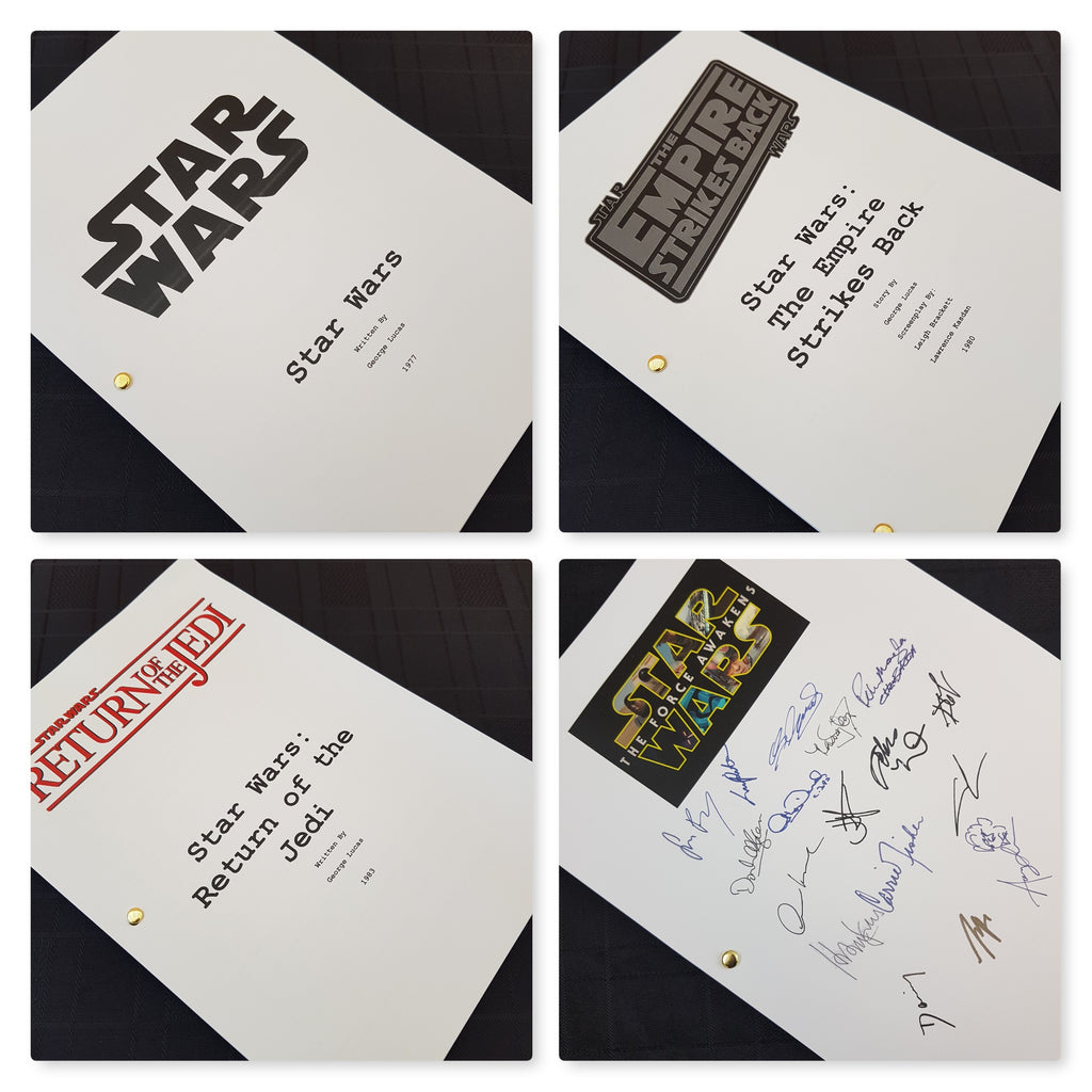 Star Wars Fan Gift Set Film Movie Signed Scripts Reprints