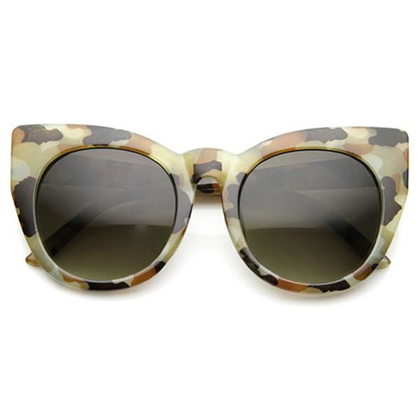 DAPMOD MILITARY INSPIRED CAT EYE GLASSES CAT006