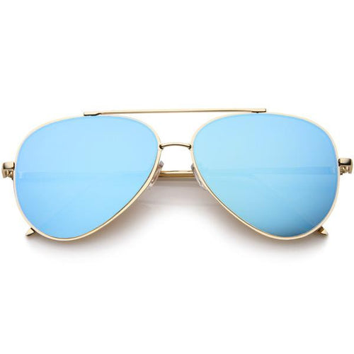 DAPMOD SUPERSIZE MIRRORED AVIATORS SQR053