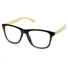 DAPMOD CLEAR SQUARE BAMBOO GLASSES CLR039