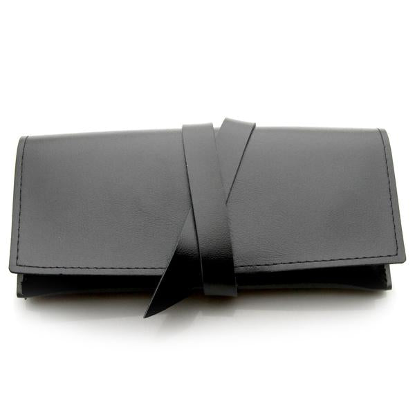STYLISH BLACK LEATHER GLASSES CASE