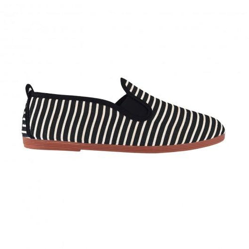 FLOSSY STRIPED PLIMSOLL BLACK