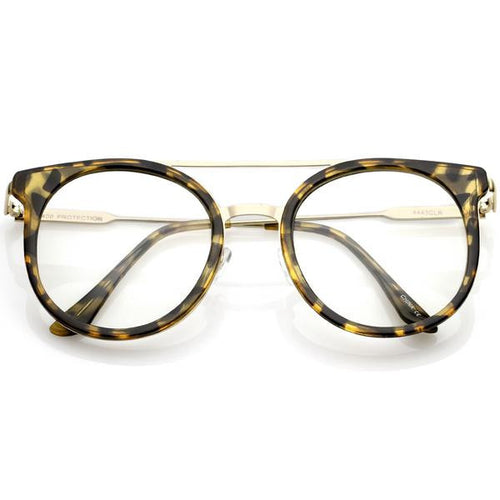 DAPMOD CLEAR METAL BRIDGE GLASSES CLR046