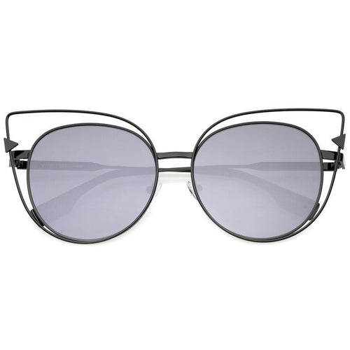 DAPMOD SPACED EXTERIOR CAT EYE SUNGLASSES CAT058