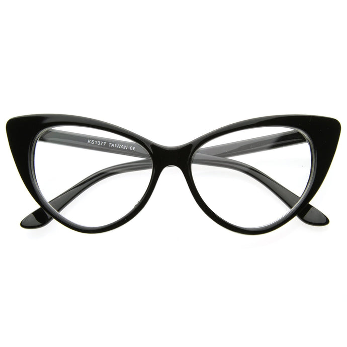 DAPMOD CLASSIC CLEAR CAT EYE GLASSES CLR001
