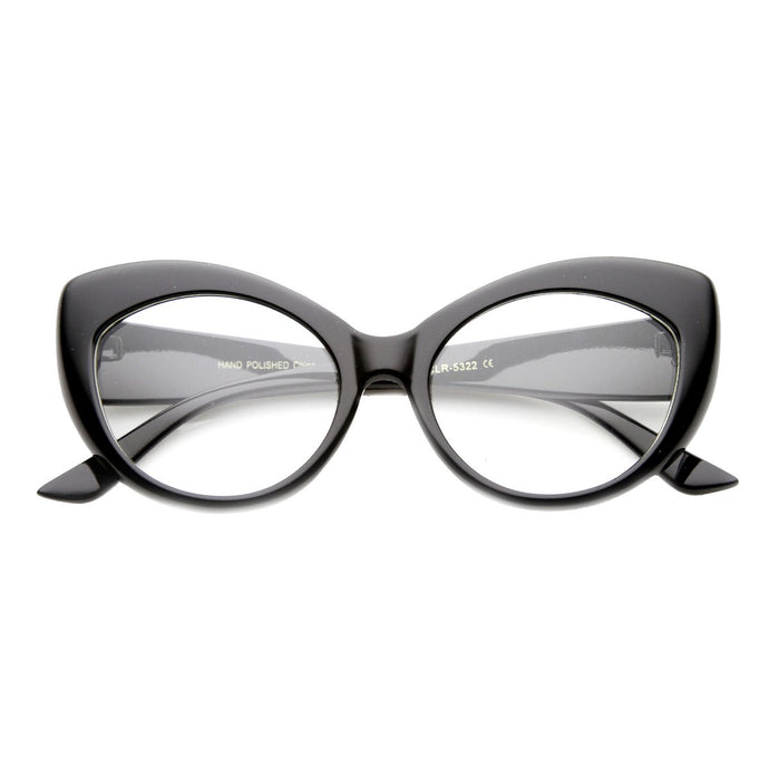 DAPMOD ZEBRA CLEAR CAT EYE GLASSES CLR002