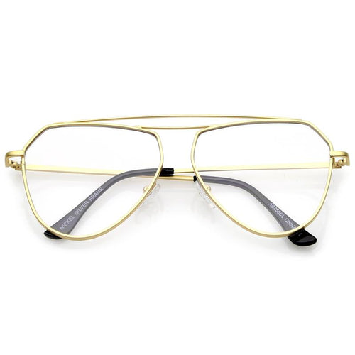 DAPMOD TRIANGULAR CLEAR AVIATORS CLR055