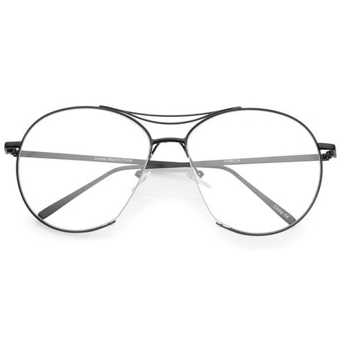 DAPMOD CLEAR V-NOSE AVIATORS CLR058