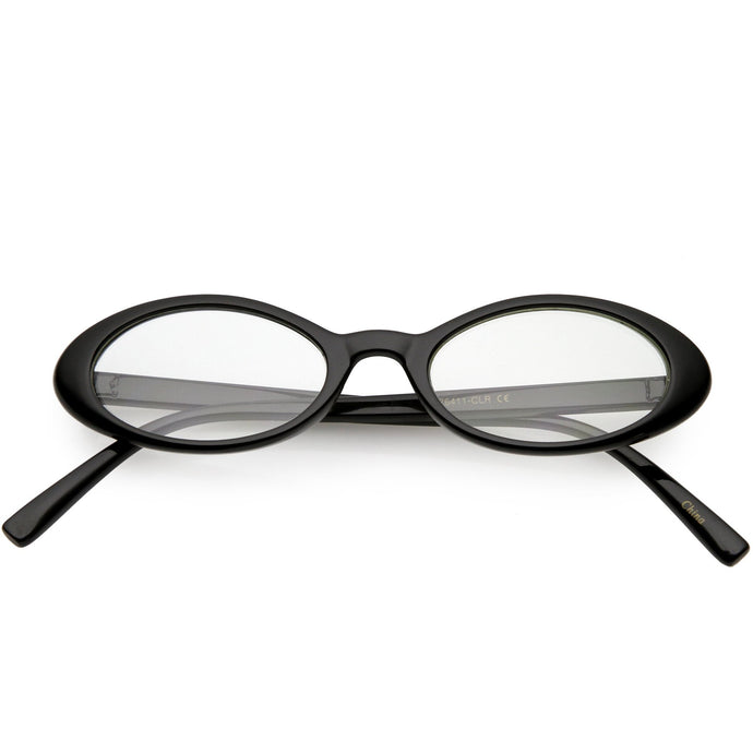 DAPMOD NARROW OVAL CLEAR GLASSES CLR1901
