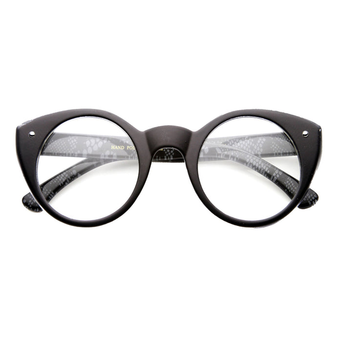 DAPMOD CLEAR ROUND CATEYE GLASSES CLR035