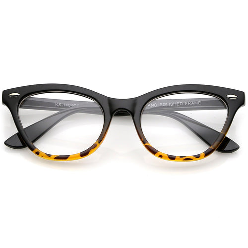 DAPMOD BORDEAUX CLEAR CAT EYE GLASSES CLR1914