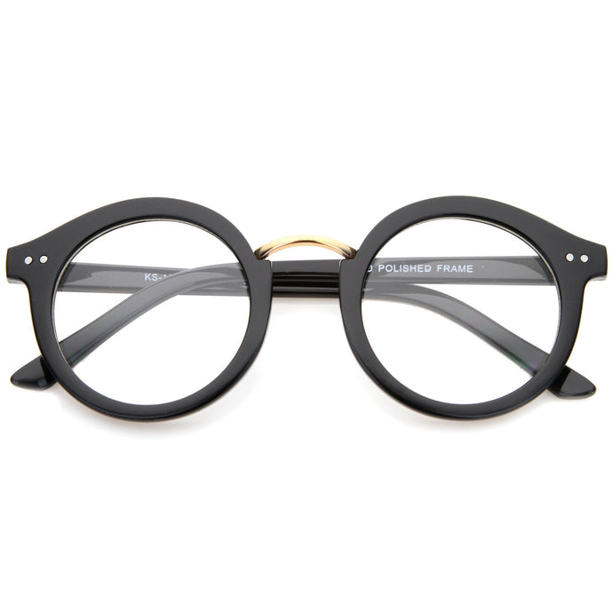 DAPMOD DOUBLE STUD ROUNDEYE GLASSES CLR1911