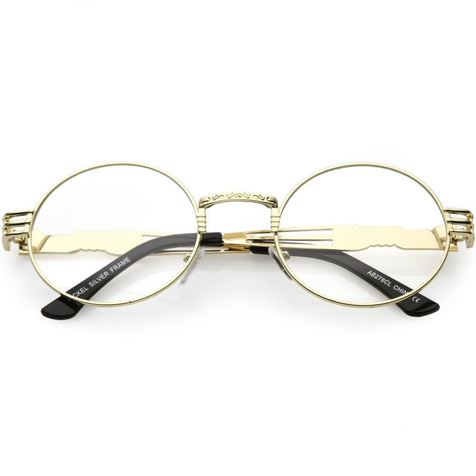 DAPMOD CLEAR VINTAGE ROUND EYE GLASSES CLR1915