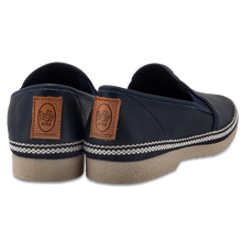 FLOSSY LEATHER ESPADRILLES NAVY