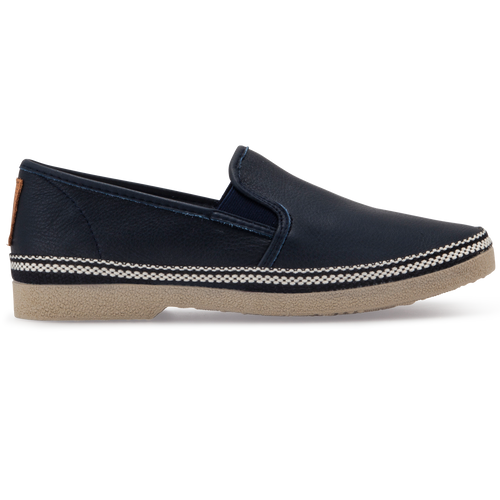 FLOSSY LEATHER ESPADRILLES NAVY BLUE