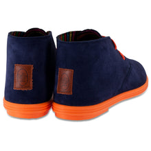 FLOSSY DESERT BOOTS NAVY BLUE / ORANGE