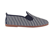 FLOSSY STRIPED PLIMSOLLS NAVY BLUE