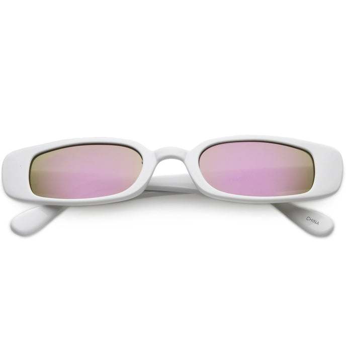 DAPMOD MIRRORED GIRONA SLIM RECTANGULAR SUNGLASSES SQR1919